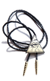 All seeing eye pyramid bolo, gold by Rosita Bonita Product photo