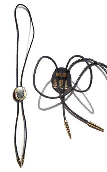 Lucky horseshoe bolo, gold by Rosita Bonita Product photo