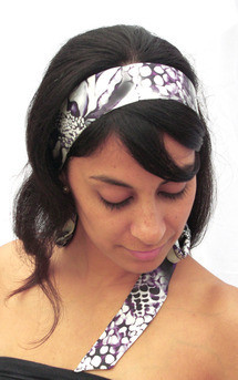 B&w hybrid rose print silk ribbon by Leanne Claxton Product photo