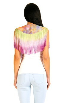 Fringed rainbow collar by Boutique Alter Ego Product photo