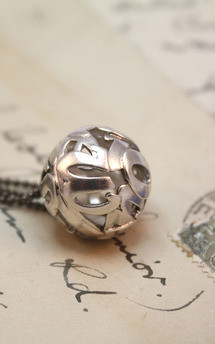 Lost words silver pendant medium by Nicola Crawford Jewellery Product photo