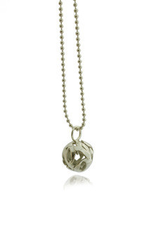 Lost words silver pendant small by Nicola Crawford Jewellery Product photo