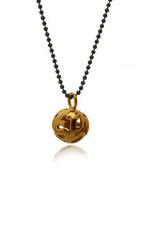 Lost words gold vermeil pendant small by Nicola Crawford Jewellery Product photo