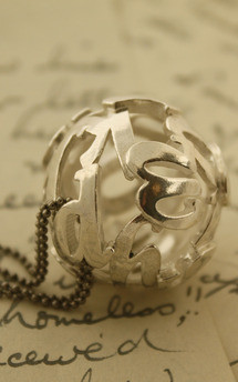 Lost words silver pendant large by Nicola Crawford Jewellery Product photo