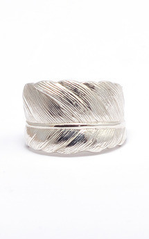 Silver feather ring  by Frillybylily Product photo