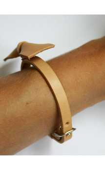 Leather bow bracelet by Chloe Stanyon Design Product photo