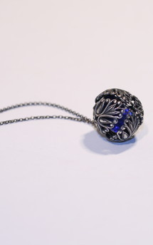 Victorian filigree roundel necklace by Heroldian Jewellery Product photo