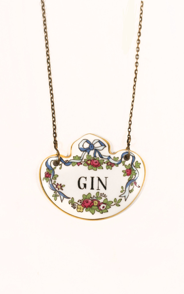 'I Love My Gin' Necklace by Heroldian Jewellery