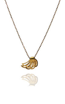 Lophorina gold wing pendant by Cara Tonkin Jewellery Product photo