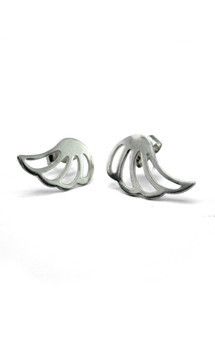 Lophorina silver wing studs by Cara Tonkin Jewellery Product photo