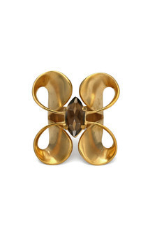 Volute gold double curl ring by Cara Tonkin Jewellery Product photo