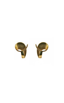 Volute gold stud earrings by Cara Tonkin Jewellery Product photo
