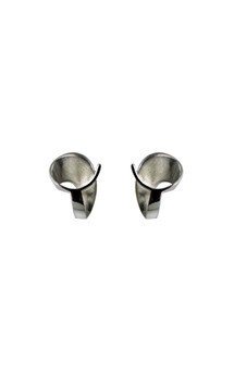 Volute silver stud earrings by Cara Tonkin Jewellery Product photo