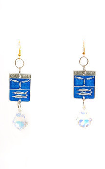 Blue city earrings by Anna Kompaniets Product photo