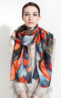 Claire andrew silk print scarf by Claire Andrew Product photo