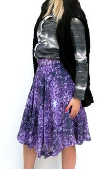 Print circle skirt by Dominique Kral Product photo