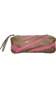 Rosa case in stone & pink leather by Carmen Woods Product photo