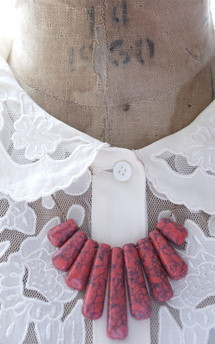 Rosé marbled stones collar necklace by Heroldian Jewellery Product photo