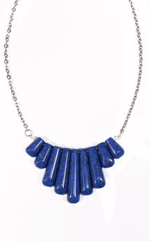Blue marbled stones collar necklace by Heroldian Jewellery Product photo