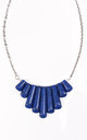 Blue Marbled Stones Collar Necklace by Heroldian Jewellery