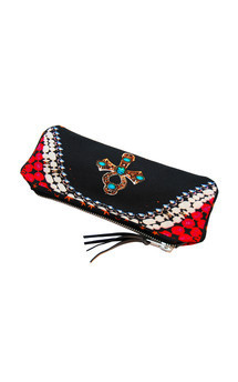 Rosa case with black patent leather and beloved cross print by Carmen Woods Product photo