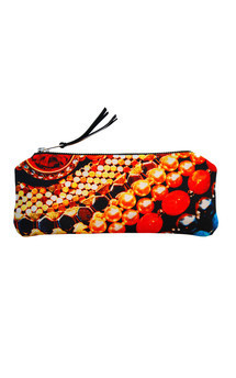 Rosa case with black patent leather and arc of splendour print by Carmen Woods Product photo