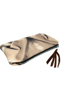 Rosa case with brown leather and sepia mount glamour print by Carmen Woods Product photo