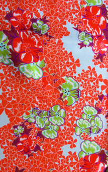 Floral print scarf by Lisan Ly Product photo