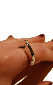 Mto hook ring by K Rothwell Jewellery Product photo
