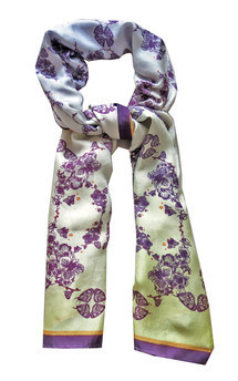 Orchid print scarf by Lisan Ly Product photo