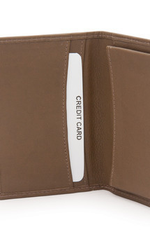 Blaze nappa and poulard leather wallet by Heidi Mottram Product photo