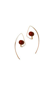 Long hook agate earrings by K Rothwell Jewellery Product photo