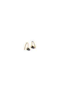 Pyrite and gold vermiel studs by K Rothwell Jewellery Product photo