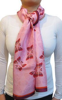 Butterfly print scarf by Lisan Ly Product photo