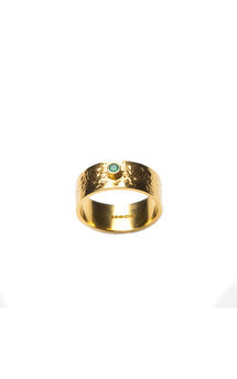Gold scatter ring with stone by Becky Dockree Jewellery Product photo