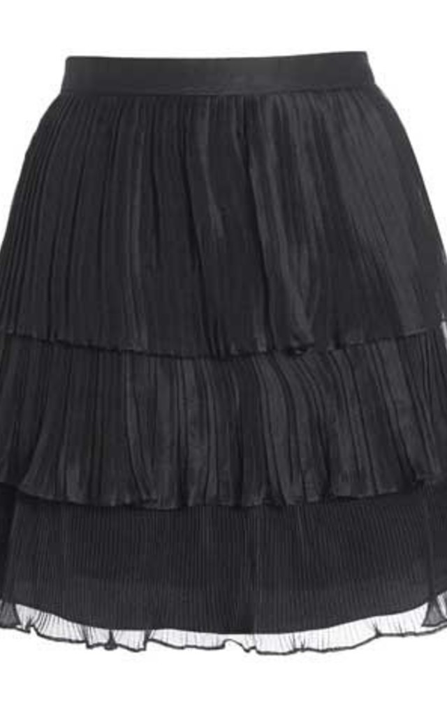 Tiered Silk Pleated Skirt by Danilo Gabrielli