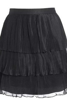 Tiered silk pleated skirt by Danilo Gabrielli Product photo