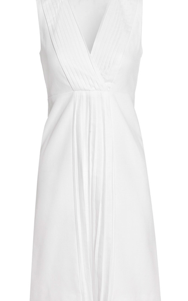 Beautiful Pleated Cotton Picquet dress by Danilo Gabrielli