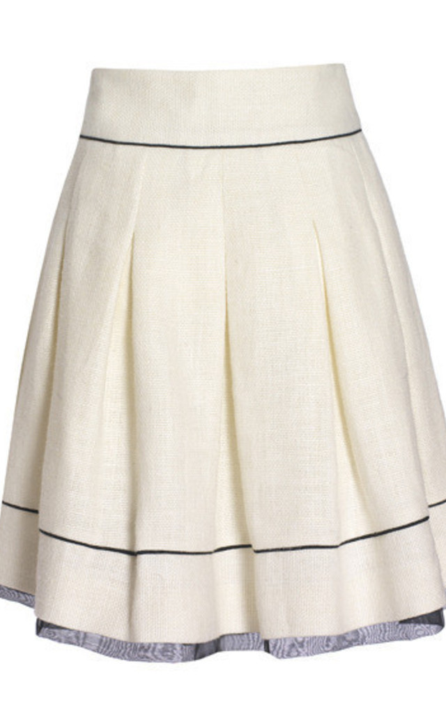 Wide pleated skirt by Danilo Gabrielli