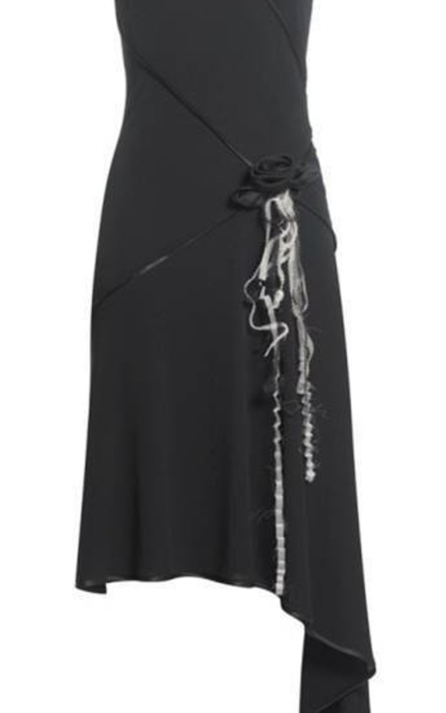 Elegant Black Jersey Dress by Danilo Gabrielli
