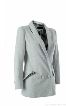 Grey tailored jacket limited edition by Fazane Malik Product photo