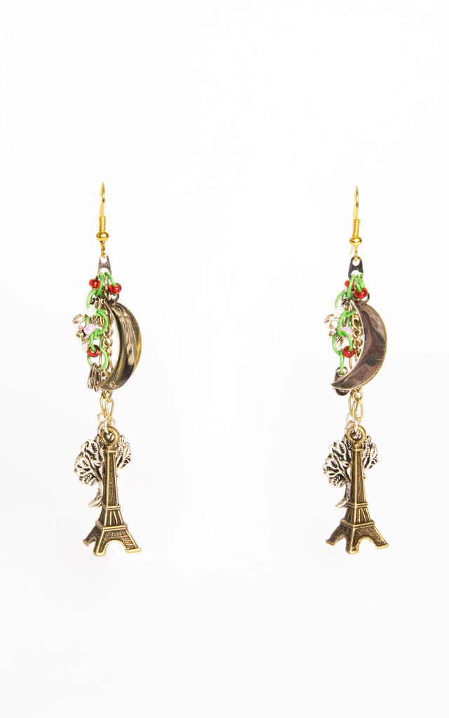 Midnight in Paris Earrings by Anna Kompaniets