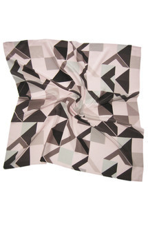 Oyster point silk square scarf by CLAIRE GAUDION Product photo
