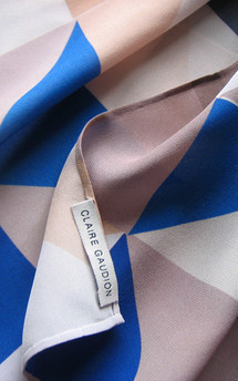 Rocquaine silk square scarf by CLAIRE GAUDION Product photo
