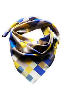 Rousse silk square scarf by CLAIRE GAUDION Product photo
