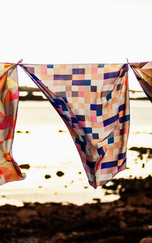 Vazon silk square scarf by CLAIRE GAUDION Product photo