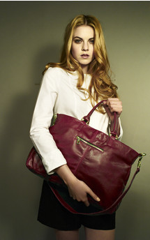 Lily leather tote bag by Amy George Product photo