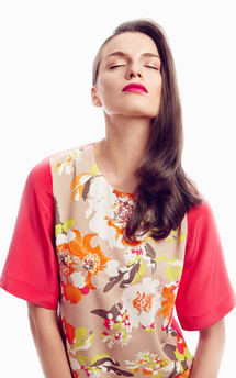 Silk blend top by Adriana Voloshchuk Product photo