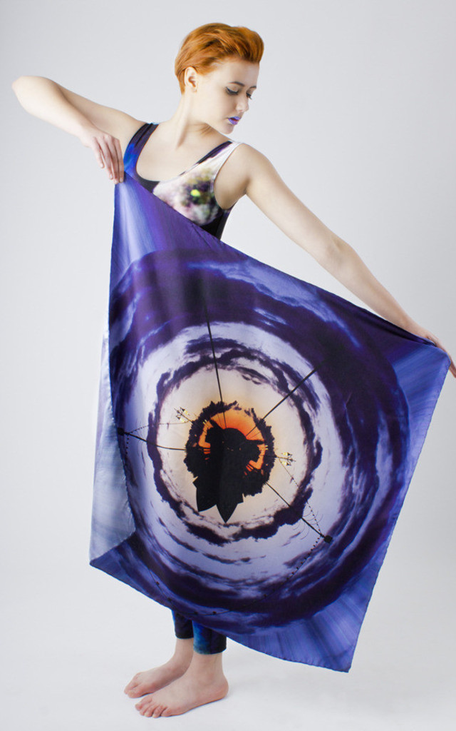 Blue World Silk Scarf by Phoebe Quare