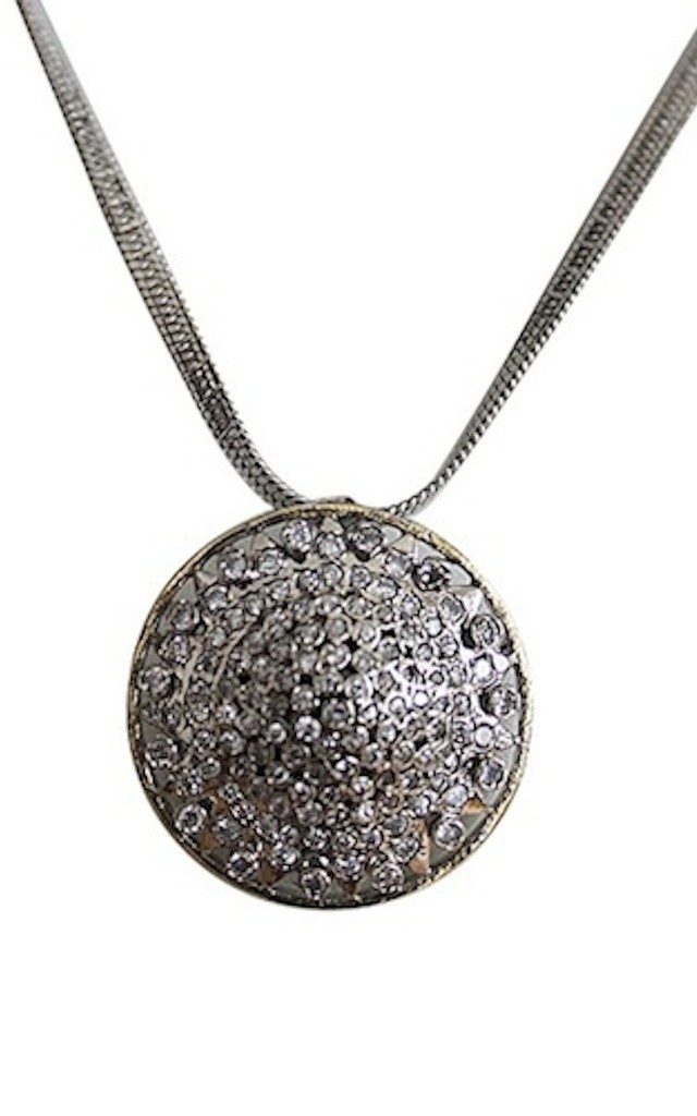 Button Necklace by Taara Jewelry